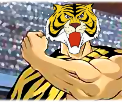 Luomo tigre colpo su colpo